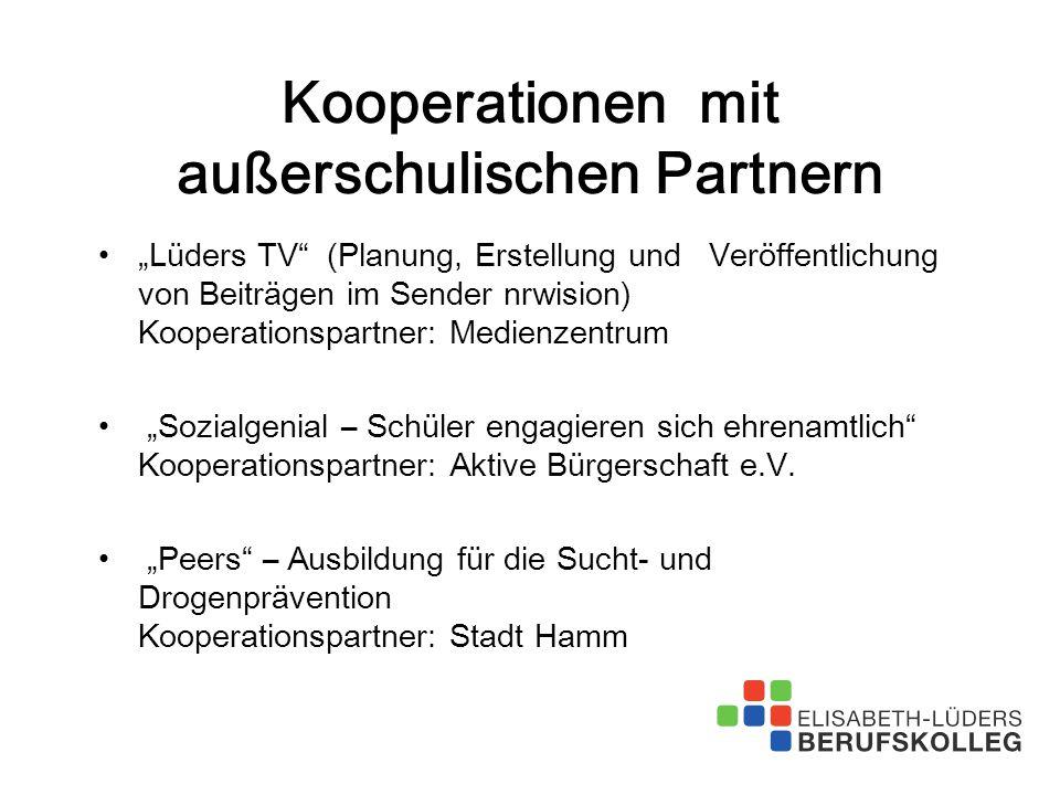 Kooperationen mit außerschulischen Partnern