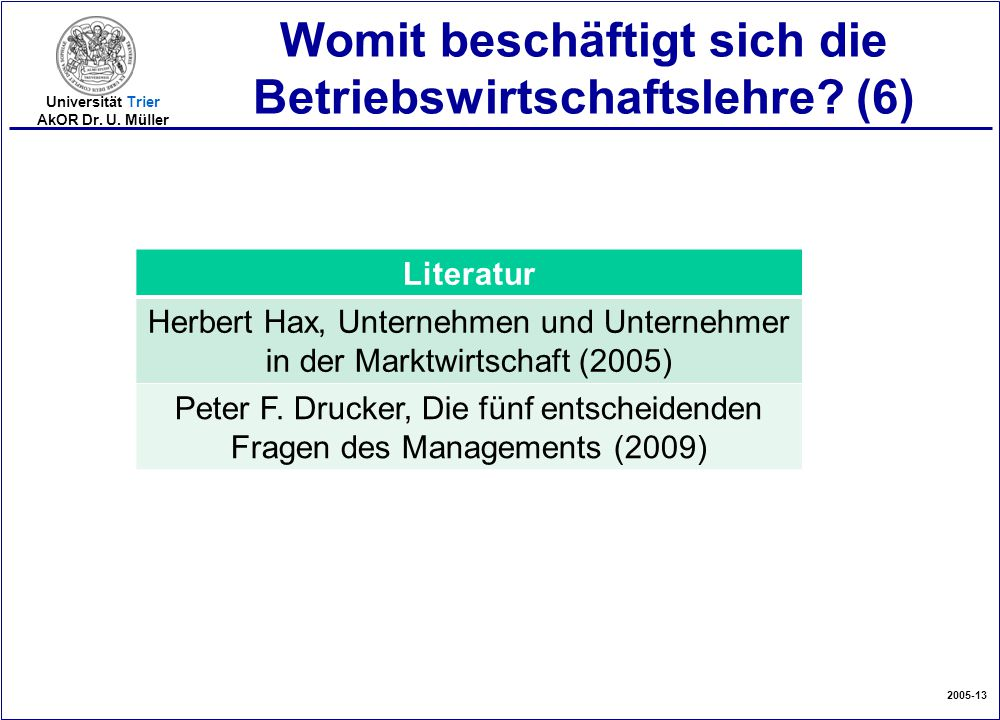 Womit beschäftigt sich die Betriebswirtschaftslehre (6)