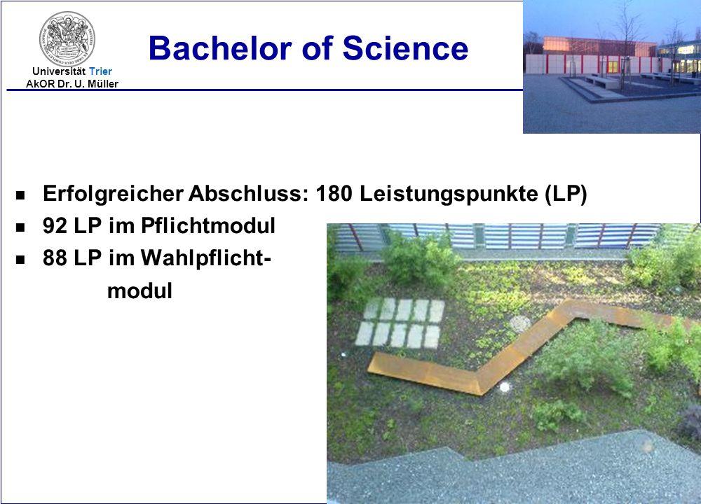 Bachelor of Science Erfolgreicher Abschluss: 180 Leistungspunkte (LP)