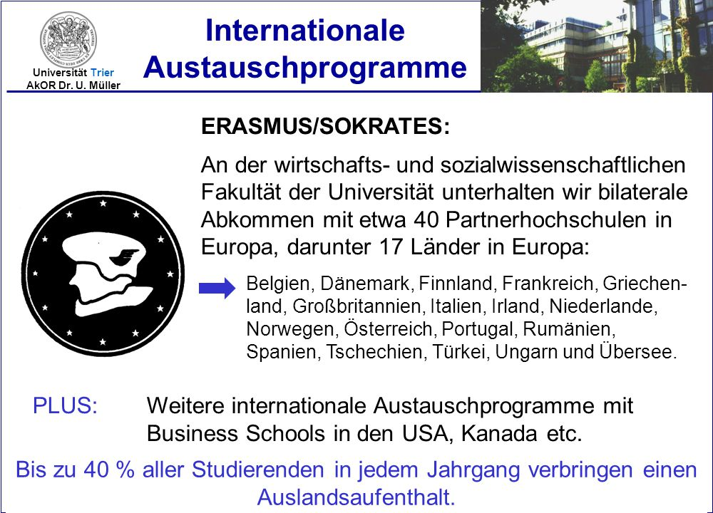 Internationale Austauschprogramme