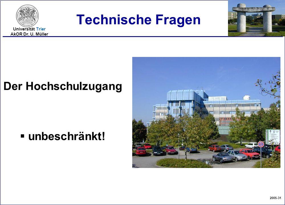 Technische Fragen Der Hochschulzugang unbeschränkt!