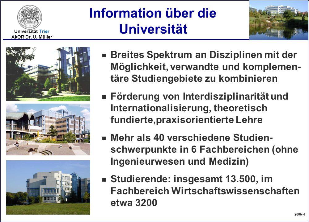 Information über die Universität