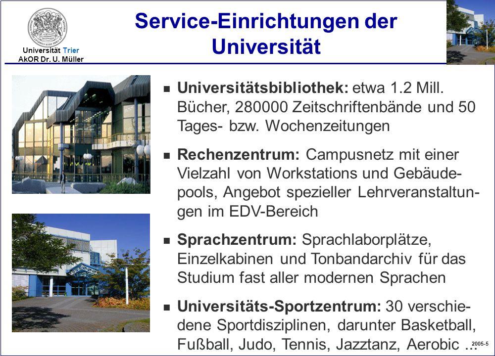 Service-Einrichtungen der Universität