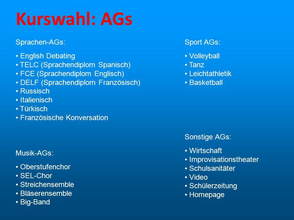 Kurswahl: AGs Sprachen-AGs: English Debating