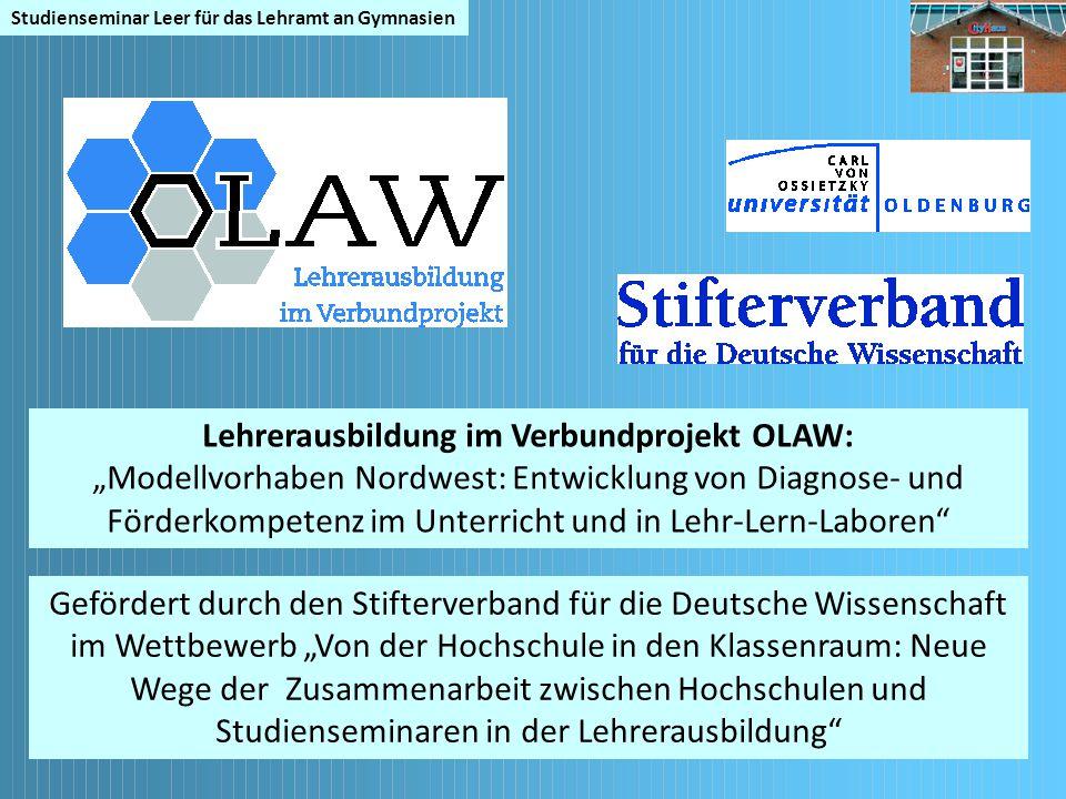 Lehrerausbildung im Verbundprojekt OLAW:
