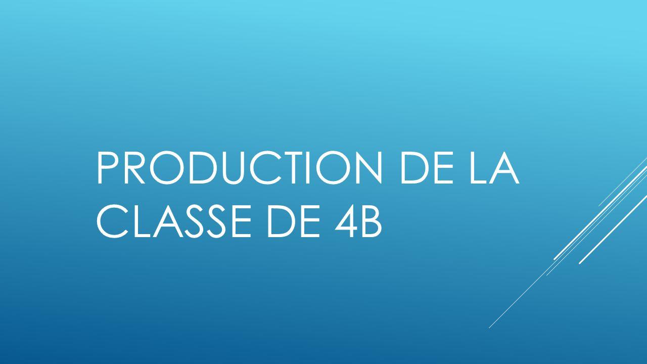 PRODUCTION DE LA CLASSE DE 4B