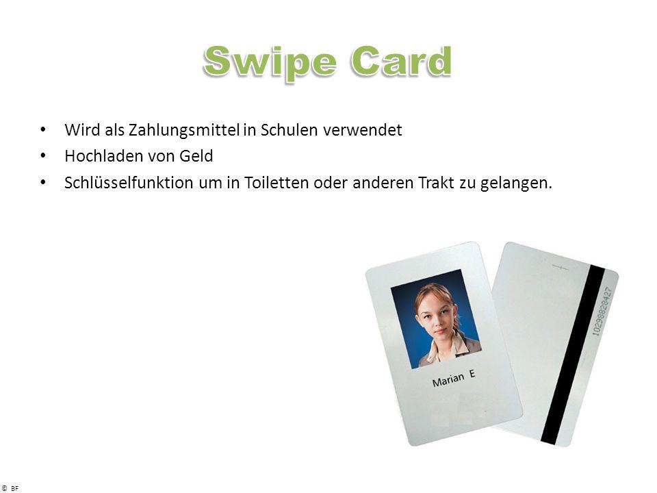 Swipe Card Wird als Zahlungsmittel in Schulen verwendet