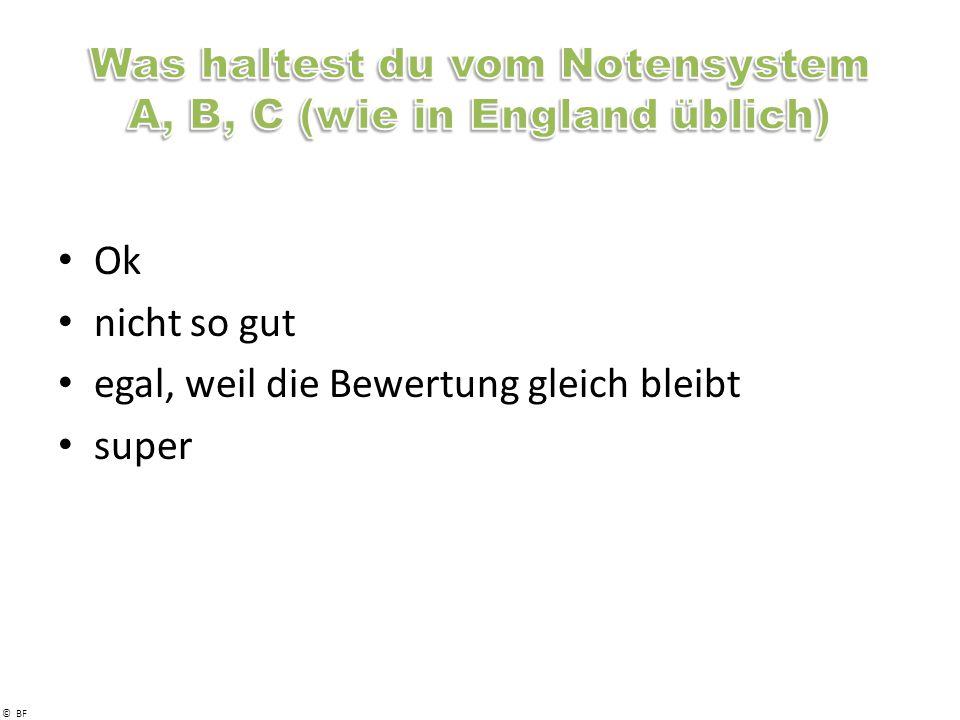 Was haltest du vom Notensystem A, B, C (wie in England üblich)
