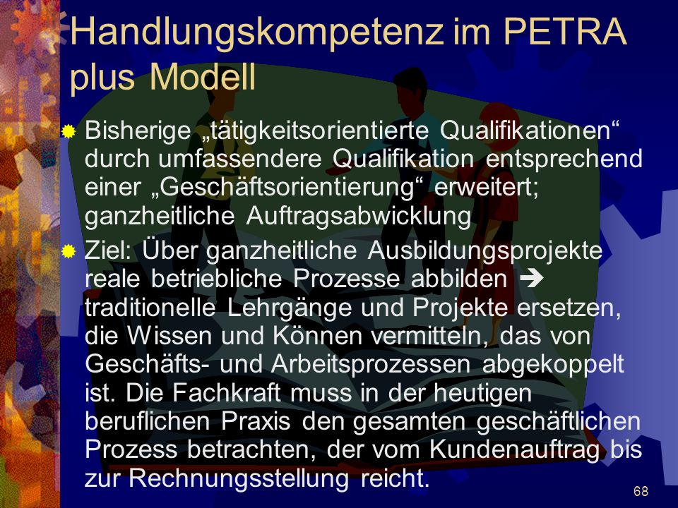 Handlungskompetenz im PETRA plus Modell