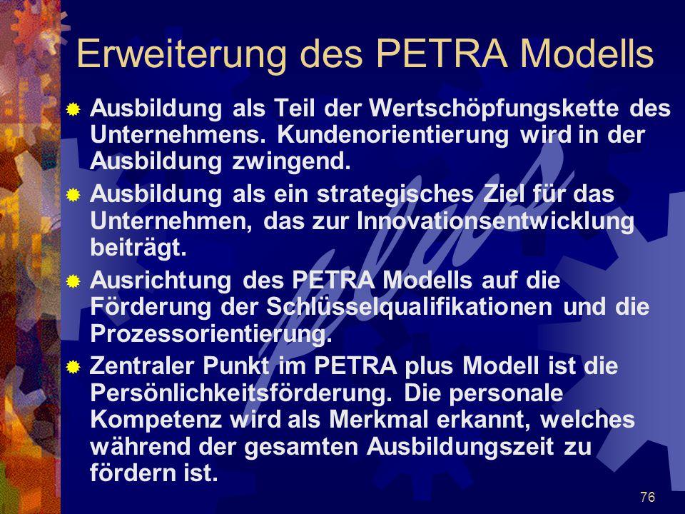 Erweiterung des PETRA Modells
