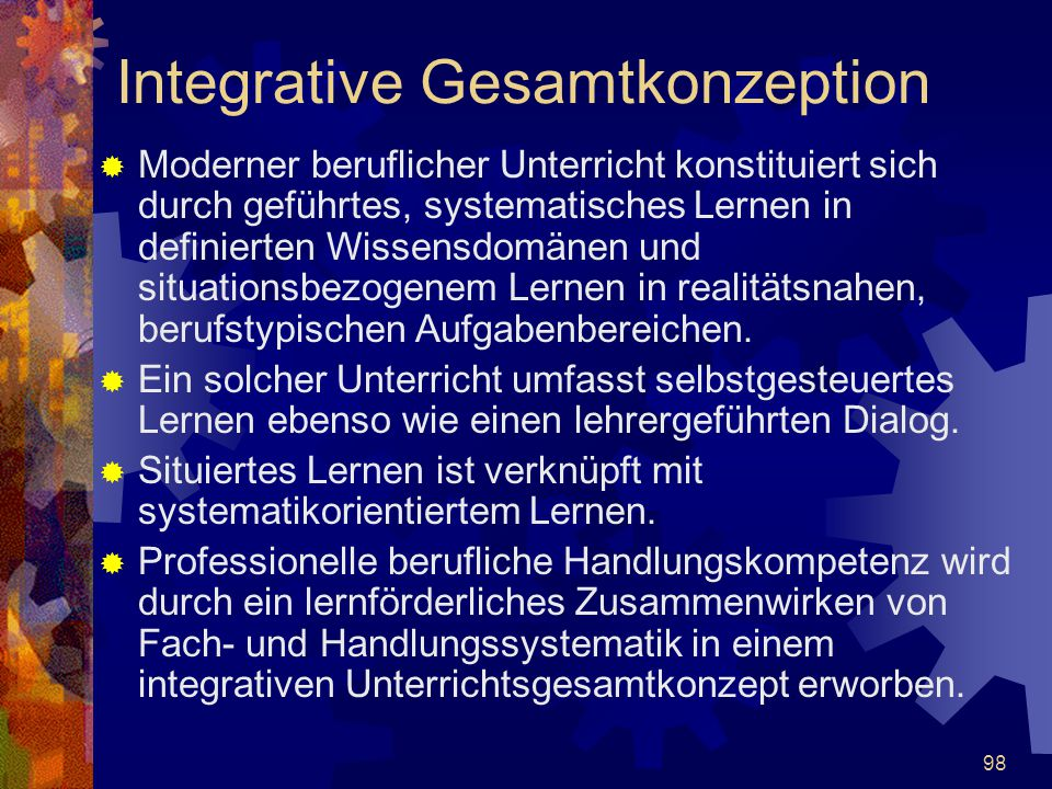Integrative Gesamtkonzeption