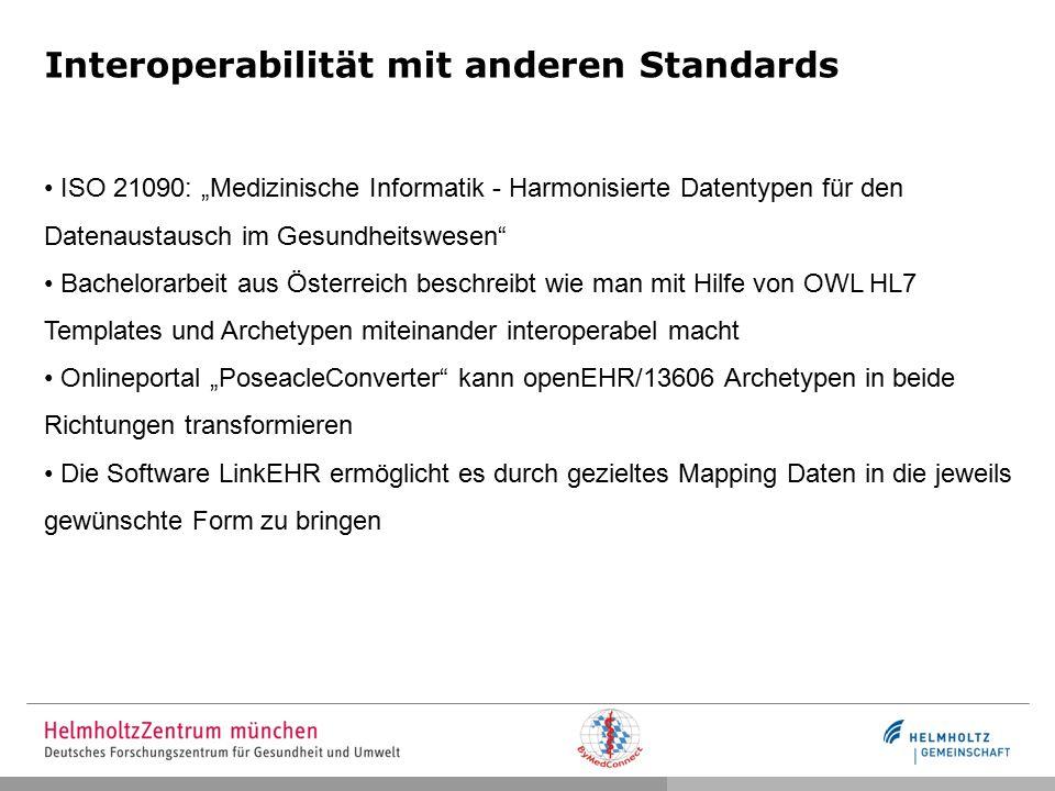 Interoperabilität mit anderen Standards