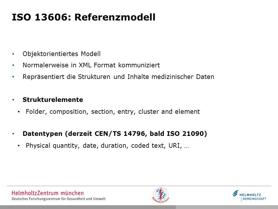 ISO 13606: Referenzmodell Objektorientiertes Modell