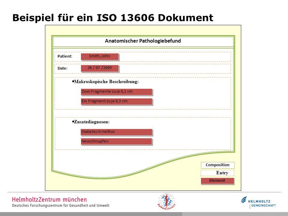 Beispiel für ein ISO 13606 Dokument