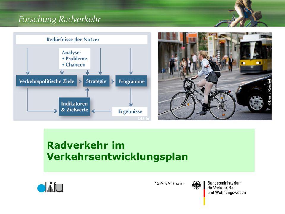 Radverkehr im Verkehrsentwicklungsplan