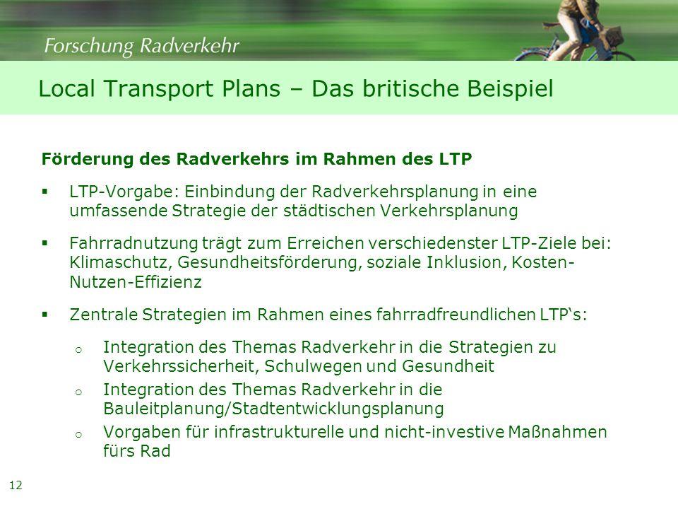 Local Transport Plans – Das britische Beispiel