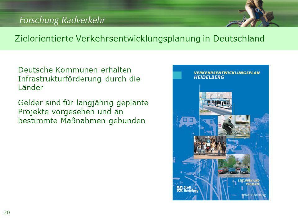 Zielorientierte Verkehrsentwicklungsplanung in Deutschland