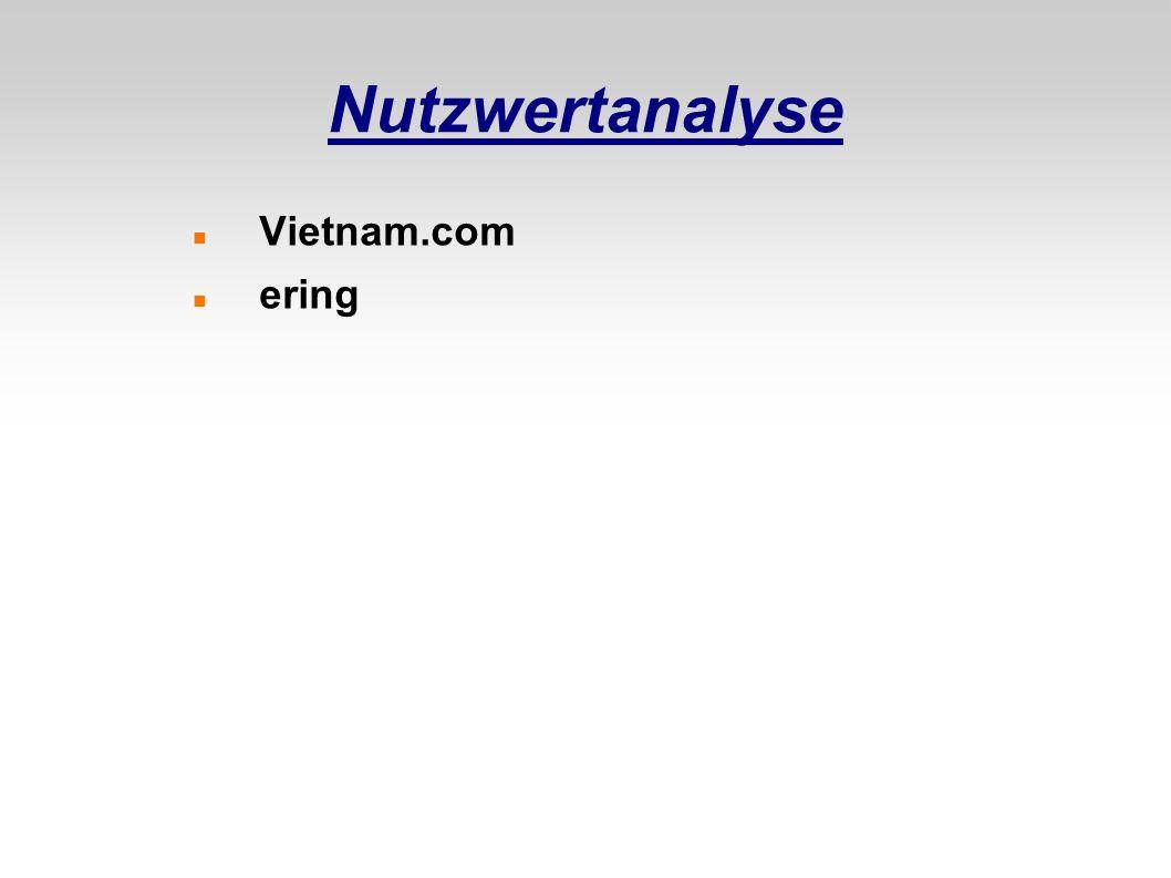 Nutzwertanalyse Vietnam.com ering