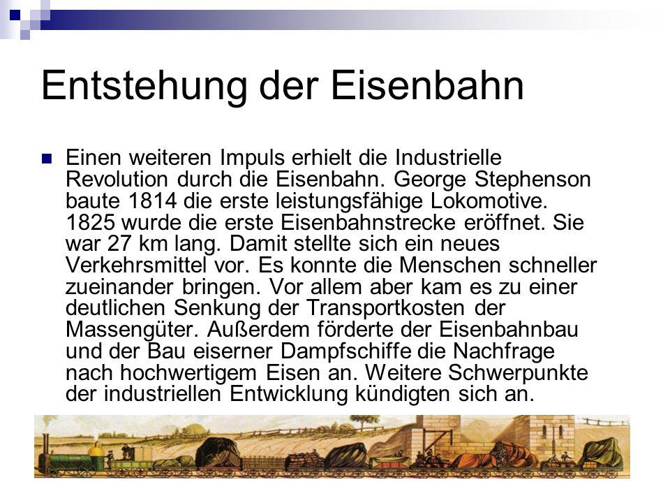 Entstehung der Eisenbahn