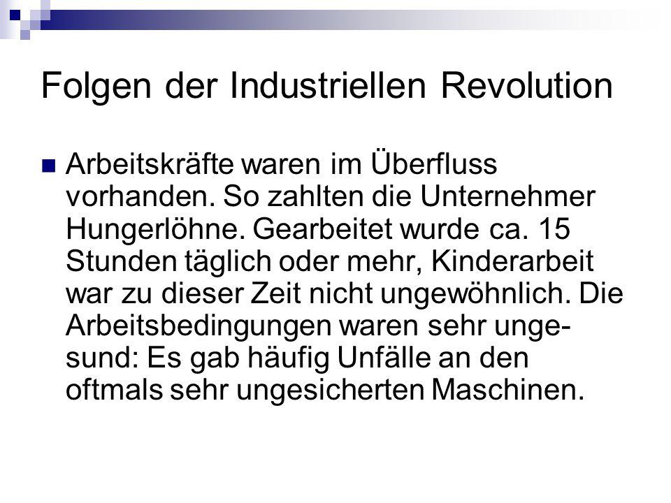 Folgen der Industriellen Revolution