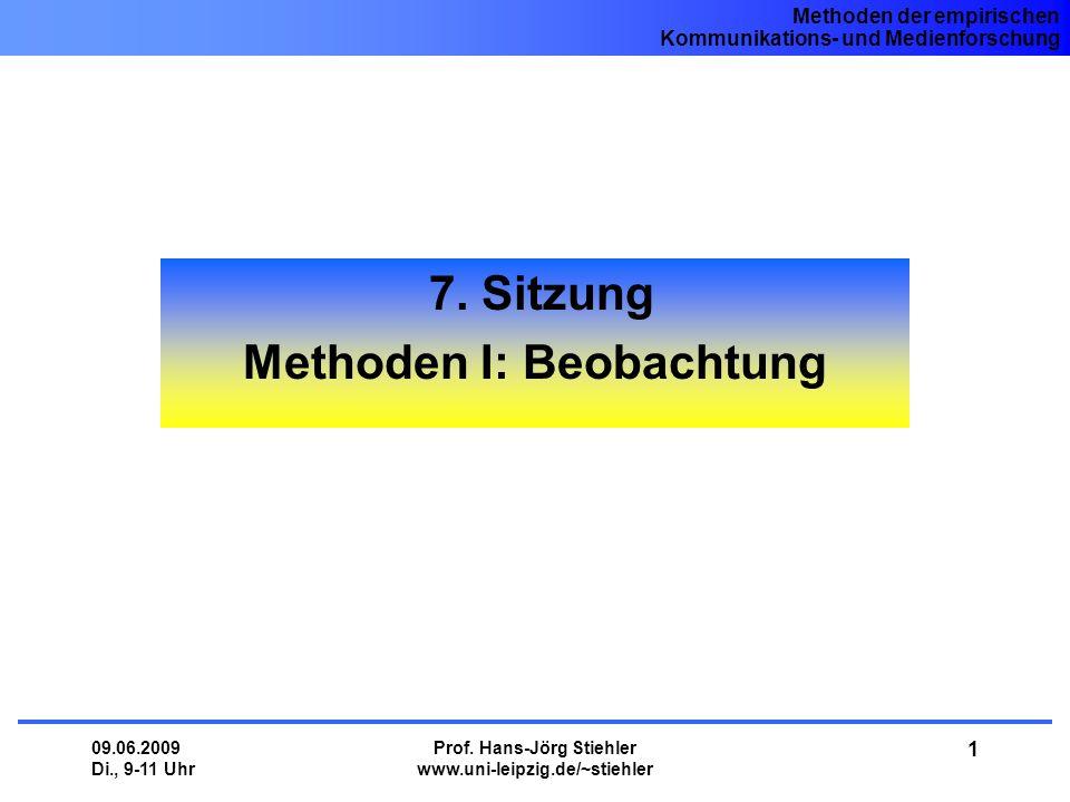 7. Sitzung Methoden I: Beobachtung