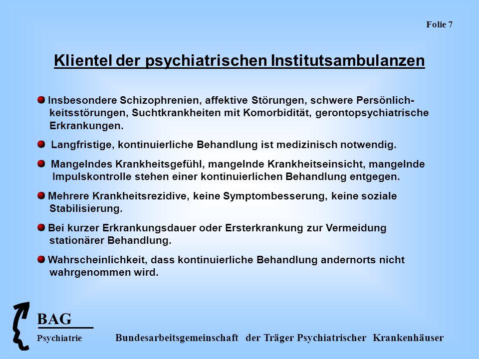 Klientel der psychiatrischen Institutsambulanzen