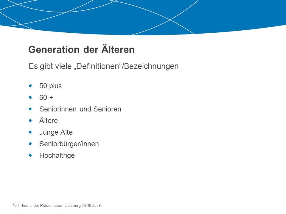 Generation der Älteren