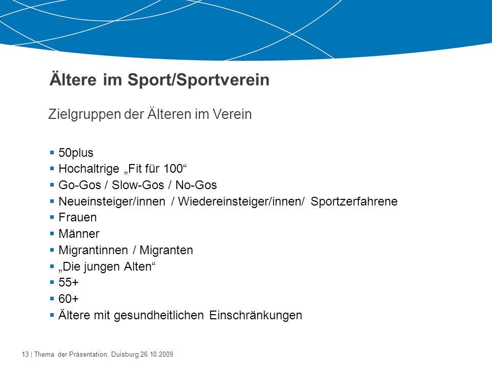 Ältere im Sport/Sportverein
