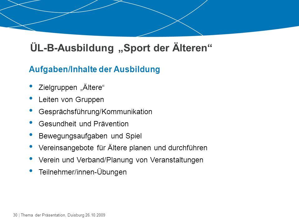 """ÜL-B-Ausbildung """"Sport der Älteren"""