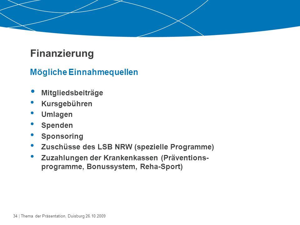 Finanzierung Mögliche Einnahmequellen Mitgliedsbeiträge Kursgebühren