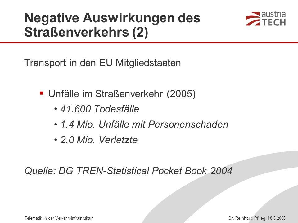 Negative Auswirkungen des Straßenverkehrs (2)