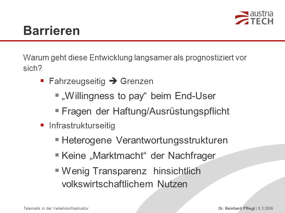 "Barrieren ""Willingness to pay beim End-User"