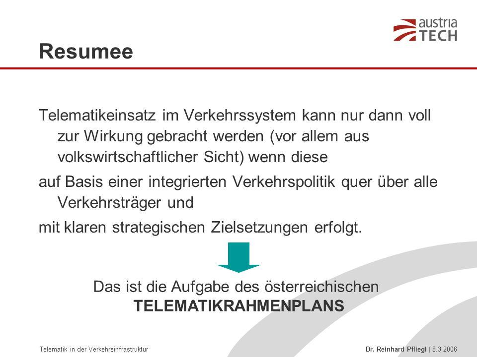 Das ist die Aufgabe des österreichischen TELEMATIKRAHMENPLANS