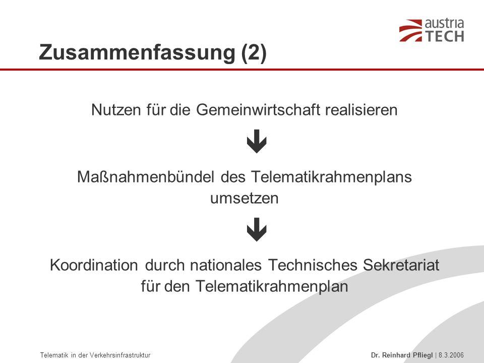  Zusammenfassung (2) Nutzen für die Gemeinwirtschaft realisieren