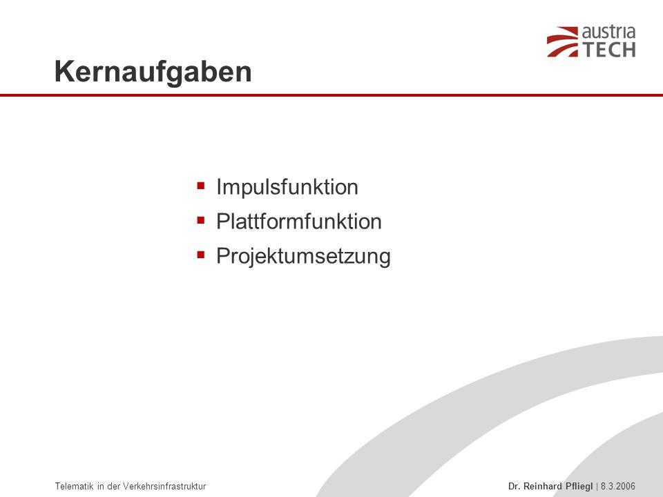 Kernaufgaben Impulsfunktion Plattformfunktion Projektumsetzung