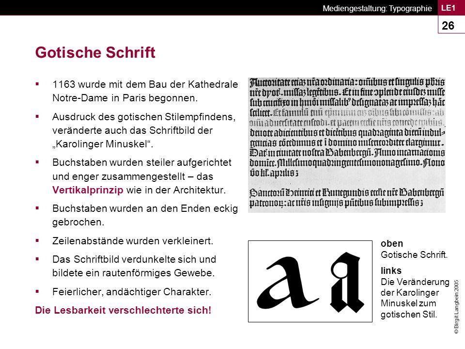 Mediengestaltung: Typographie