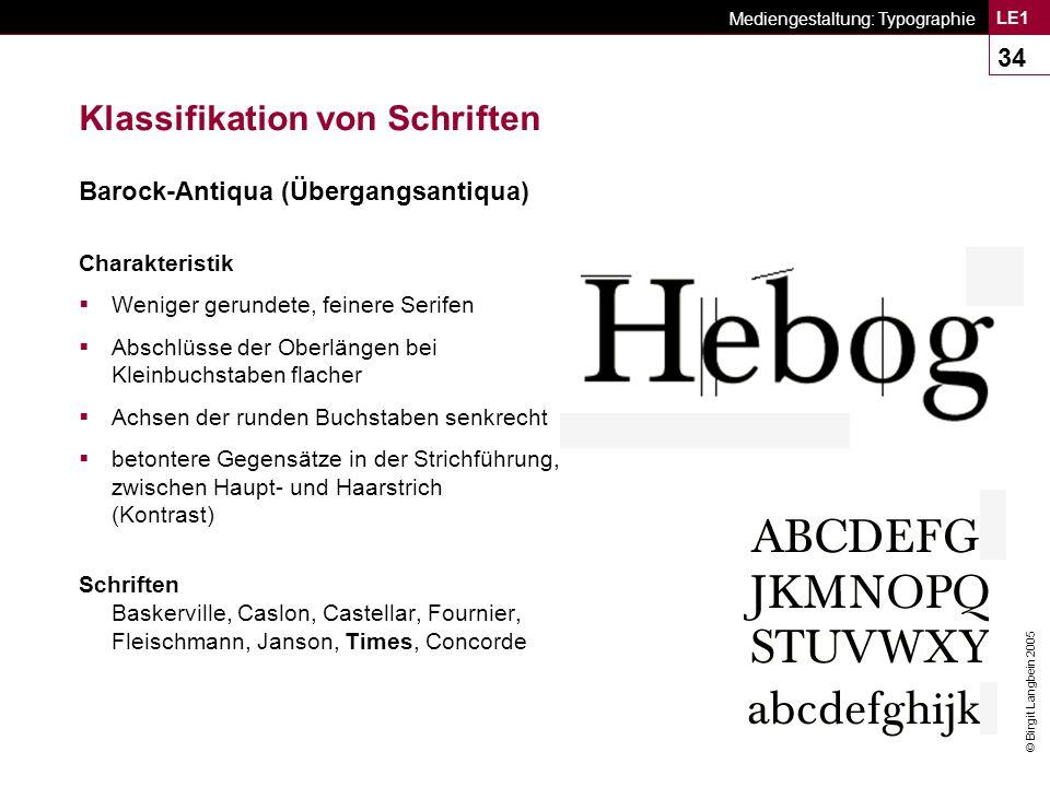 Klassifikation von Schriften