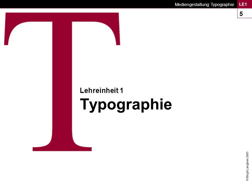 Lehreinheit 1 Typographie