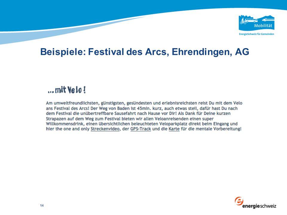 Beispiele: Festival des Arcs, Ehrendingen, AG