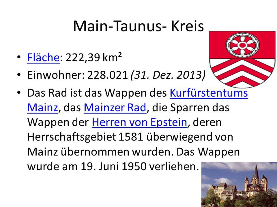 Main-Taunus- Kreis Fläche: 222,39 km²