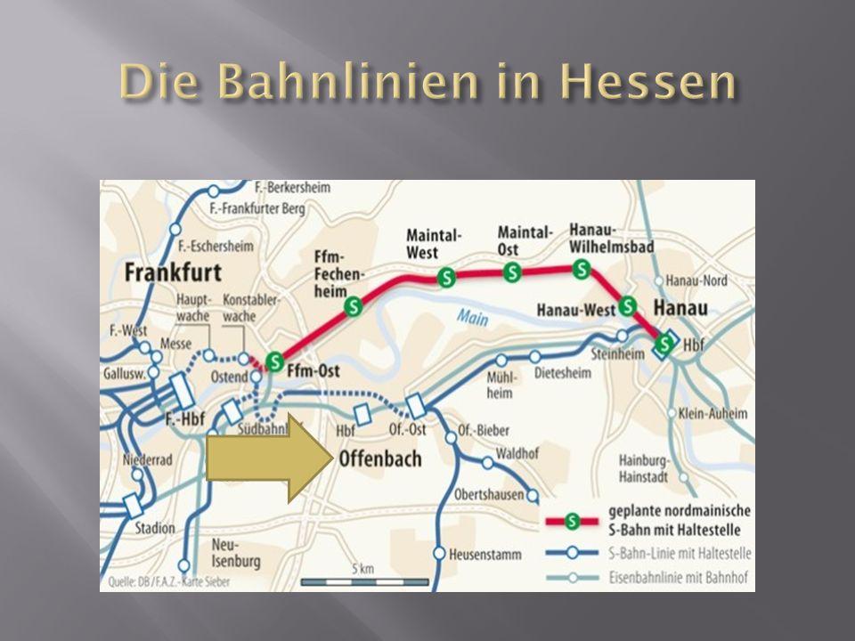 Die Bahnlinien in Hessen
