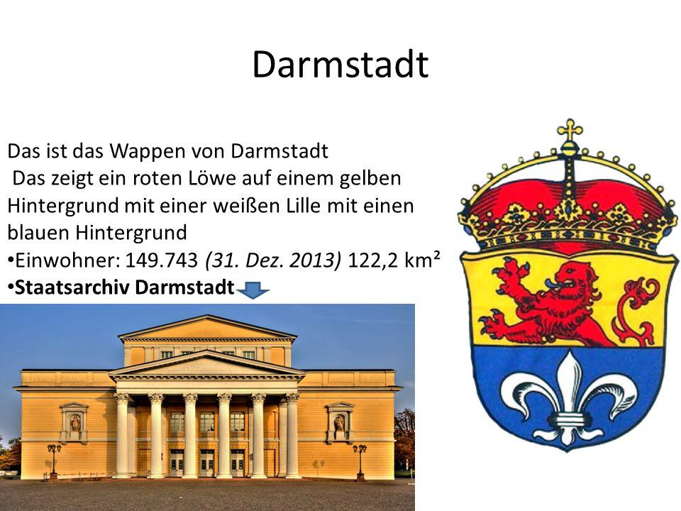 Darmstadt Das ist das Wappen von Darmstadt