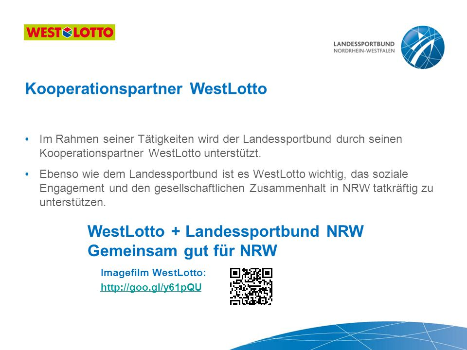Kooperationspartner WestLotto