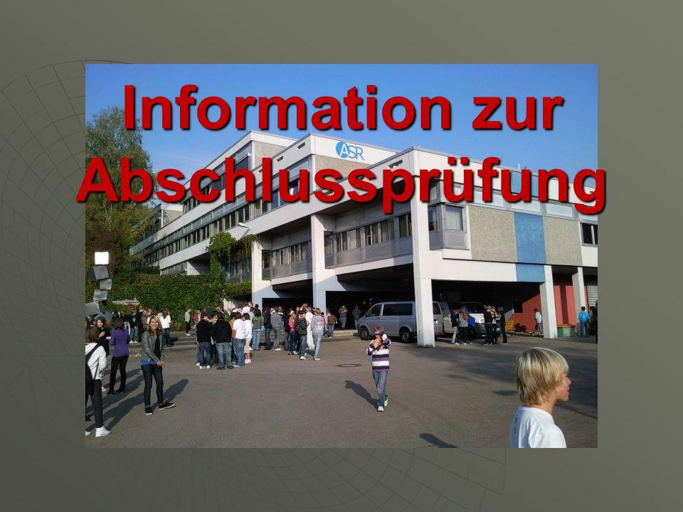 Information zur Abschlussprüfung