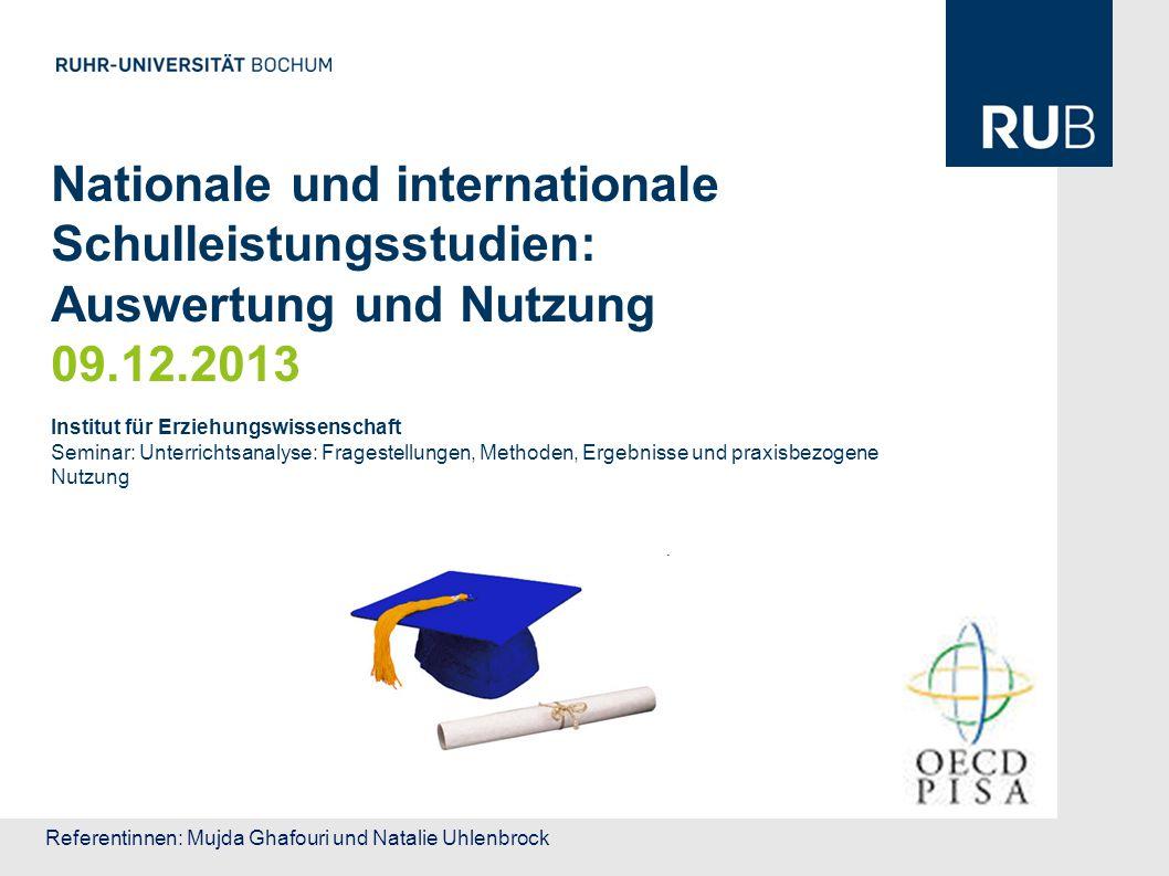 Nationale und internationale Schulleistungsstudien: Auswertung und Nutzung