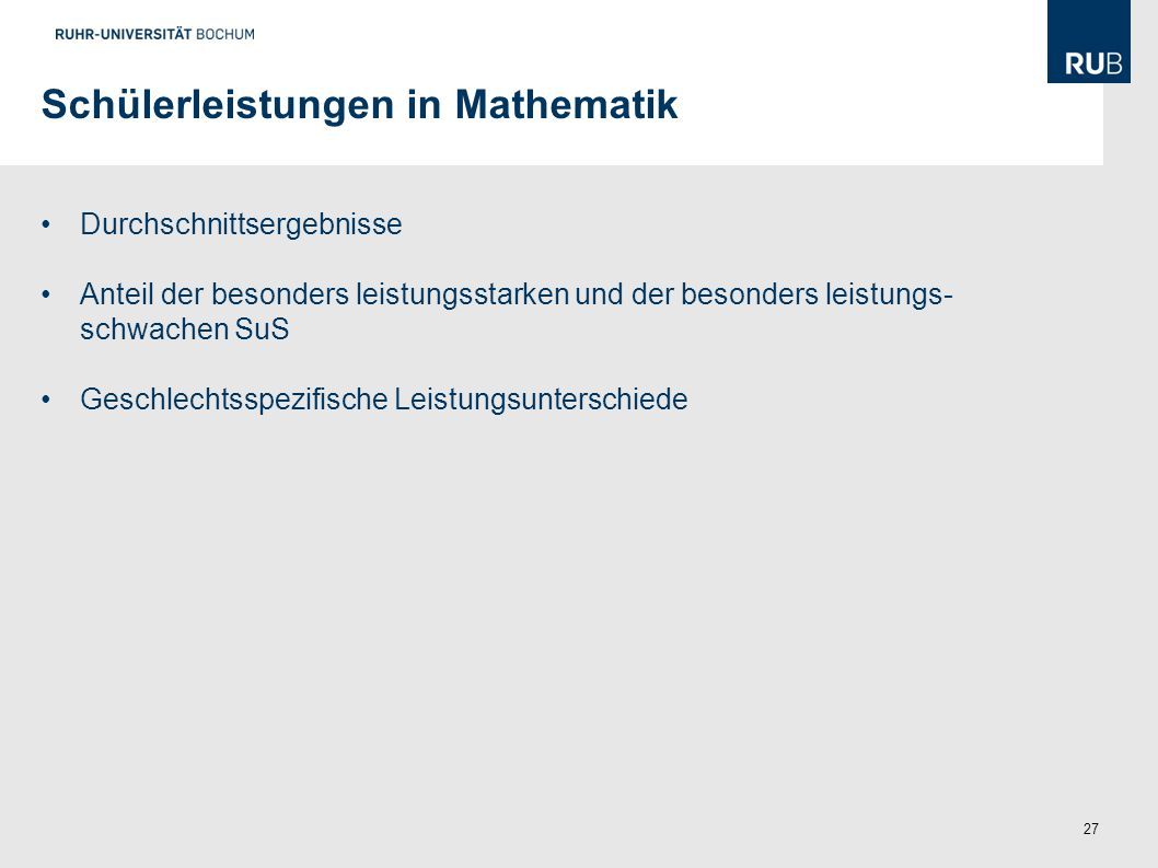 Schülerleistungen in Mathematik