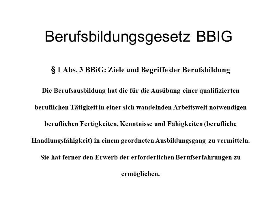 Berufsbildungsgesetz BBIG