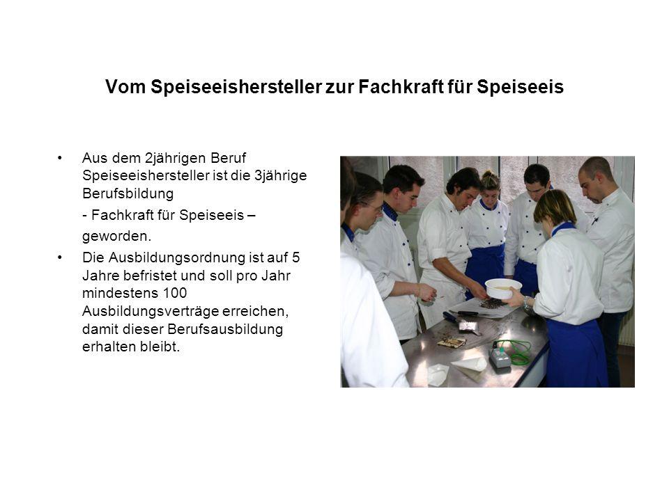 Vom Speiseeishersteller zur Fachkraft für Speiseeis