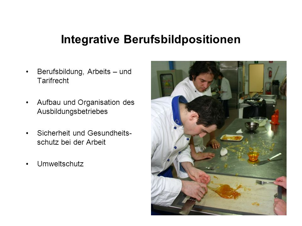 Integrative Berufsbildpositionen