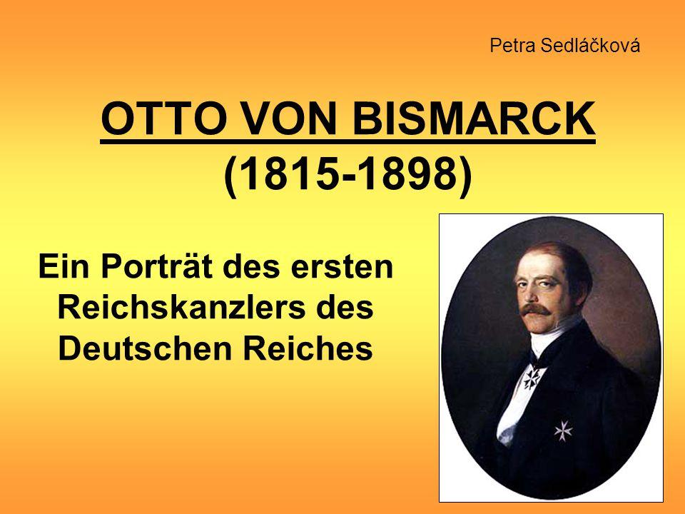 Ein Porträt des ersten Reichskanzlers des Deutschen Reiches